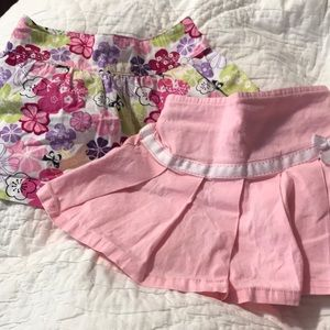 2 Skirt Lot with Built in Shorts 18M Girls Pink